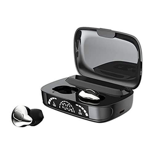 YRX Auriculares Bluetooth inalámbricos Mini Deportes in-Ear Touch TWS Auriculares Bluetooth de Larga Espera,Electroplating Silver