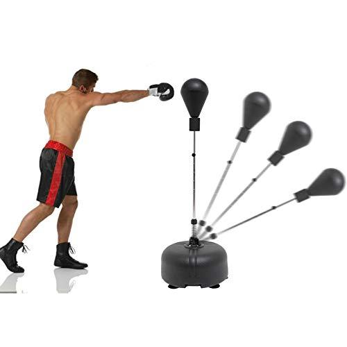 Punching Bag & Boxing Training Rod - Adults & Kids Boxing Bag – Kickboxing & Reflex Training, Height Adjustable - Freestanding Punching Ball Boxing Speed Bag - Durable Spring – Home Gym Equipment