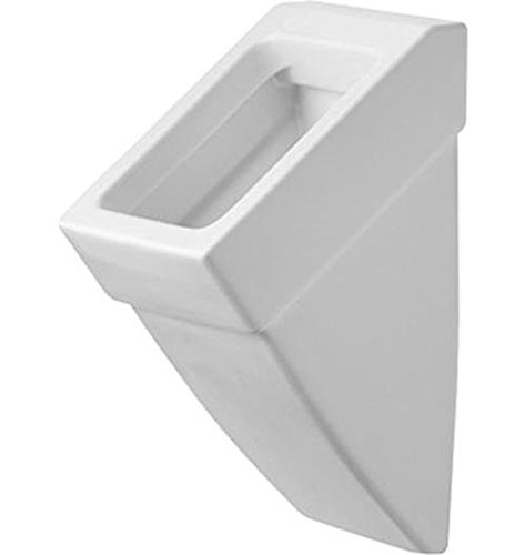 Duravit Urinal Vero, Zulauf von hinten, ohne Deckel mit Fliege, weiß WonderGliss 280032000, 28003200