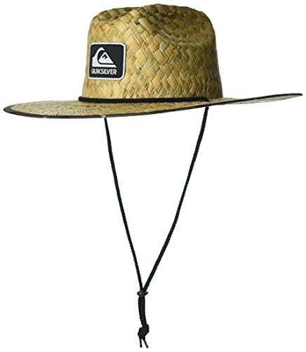 Quiksilver Men's Outsider Lifeguard Beach Sun Straw Hat, Green CAMO, S/M
