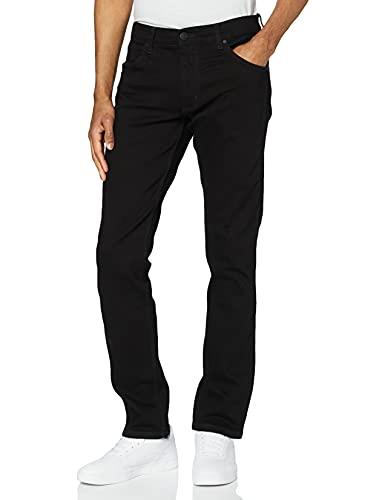 Wrangler Herren Greensboro Regular Jeans, Schwarz (Black Valley 19A),33W/34L