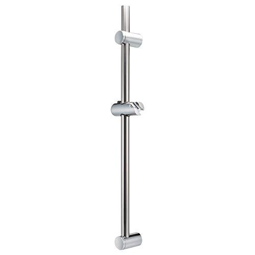 bremermann Barra de ducha de acero inoxidable de 71,5 cm – Incluye soporte de ducha cónico, orificio superior variable