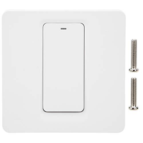 Interruptor inteligente, compatible con Alexa y Google Home, interruptor de luz Wi-Fi 100-240VAC 2.4GHZ, se requiere cable neutro, control remoto, soporte IFTTT Roqi / iPhone_Siri para luces, ventilad
