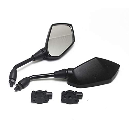 """【2020 Upgraded】Motorcycle Convex Rear View Mirror, Mirrors For bike ,motorcycle ,atv,scooter, with 10mm Bolt, with 7/8"""" Handle Bar Mount Clamp Compatible with Cruiser, Suzuki, Honda, Victory and More"""
