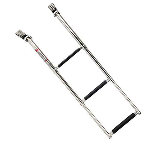 3 Step 304 Stainless Steel Telescoping Boat Swim Step Ladder Amarine Made ESA