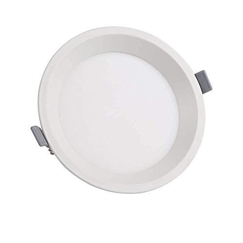 Foco Empotrado LED 12 W, Moderno, Redondo, Inteligente, Aluminio, Oficina Negocios, Foco Empotrado Pasillo, Pasillo