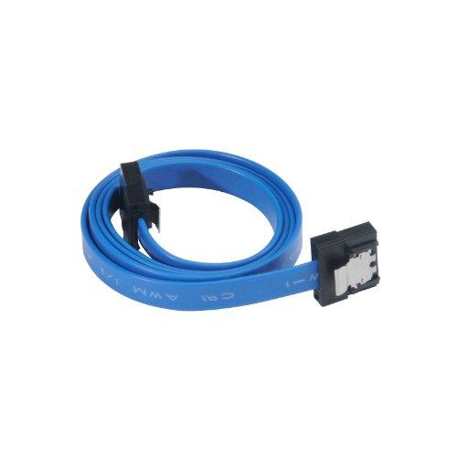 Akasa AK-CBSA05-50BL Proslim - Cable SATA 3 (50 cm), Color Azul