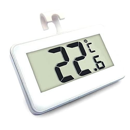 Nevera Termómetro Digital De Habitaciones Termómetro del Congelador Termómetro del Refrigerador, Congelador De Refrigerador del Termómetro Digital Monitor con Gancho para