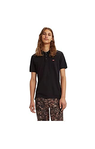 Levi's Housemark Polo Camiseta de Manga Corta, Mineral Black, M para Hombre