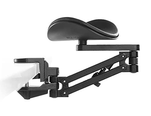 Ergorest Sin alfombrilla de ratón negro 332, 1 para tablero de 34 a 64 mm, 20 brazos estándar de 89 mm, almohadilla corta de 130 mm, color negro.