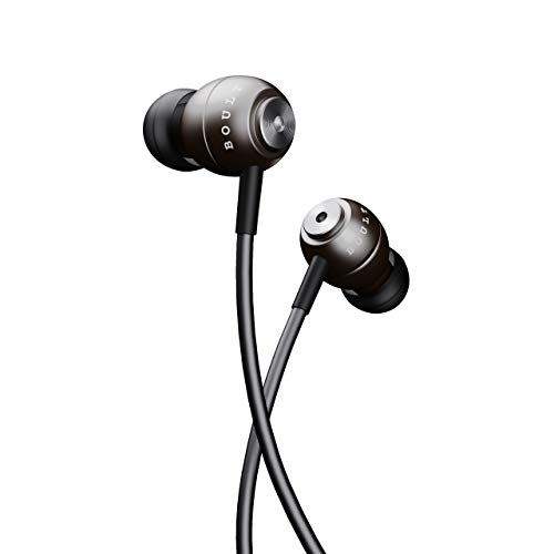 Boult Audio BassBuds Storm-X in-Ear Wired Earphones with Mic and Full Metal Body for Extra Bass & HD Sound with Passive Noise Cancellation (Grey)