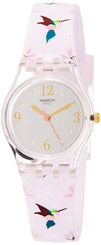 Swatch Reloj Analógico para Mujer de Cuarzo con Correa en Silicona LK376