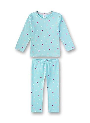 Sanetta Mädchen Pyjama Zweiteiliger Schlafanzug, Blau (Angel Blue 5568), (Herstellergröße: 104)