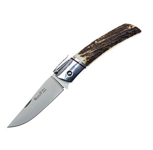 Muela Taschenmesser NPQ-8A Hirschgeweih - Werkzeug für Jagd, Angeln, Überleben und Bushcraft - Hergestellt in Ciudad Real