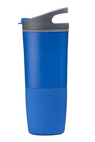 ozmo Limited Edition Watertight Rechargeable Bluetooth Smart Cup Hydration Tracker with iOS/Android App and LED Indicator (Monochrome)