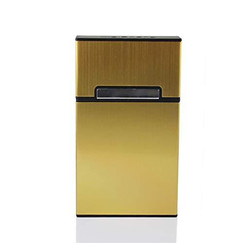 YANBEN Caja de Cigarrillos, Aluminio Ultra Delgado Anti-colisión a Prueba de Salpicaduras de chapoteo y Resistente a rasguños Caja de Cigarrillos de Humo Fino, para un Paquete Completo de Cigarrillos
