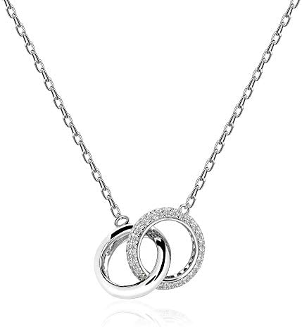 925 Sterling Silver Choker Necklace for Women Fashion Pendant Gold White Plated Dainty Jewelry product image