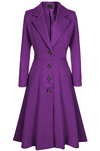 SLYZ Europäische Und Amerikanische Damen Herbst Und Winter Einreiher Langarm Mode Lässig Lange Trenchcoat Damenjacke