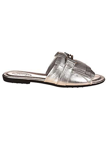 Tod's Luxury Fashion Damen XXW0OV0Y460NPPB200 Silber Sandalen | Jahreszeit Permanent