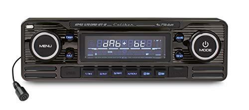 Caliber RMD120DAB-BT Radio de Coche con Dab + y Bluetooth - Aspecto Retro - Cromo Negro