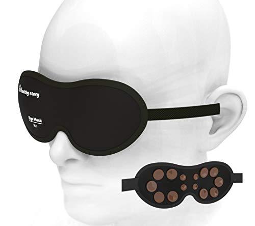 3D-Augenmaske mit Turmalin-Motiv, weich gepolsterter Schattenbezug, entspannt die Augenbinde, bequem, Turman-Keramik kann effektiv die Ermüdung der Augen lindern.