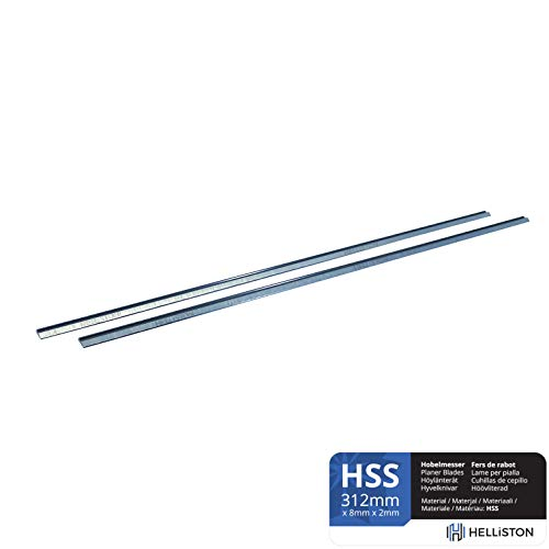 HSS Hobelmesser Wendemesser 312mm für Makita KP312S, 312 x 8 x 2mm (2 Stück)