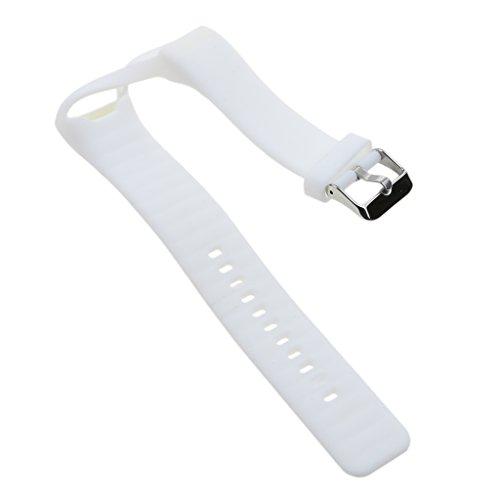 MagiDeal silicoine Wasserdicht Fitness Sports Smart tragen Armband Bandage Armband mit Metall Schnalle für Polar A360Smart Watch, weiß
