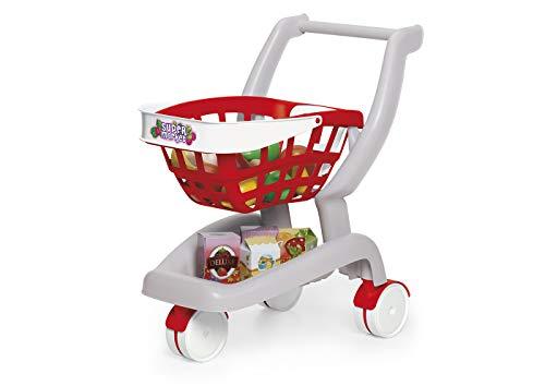 Chicos - Gran Carrito Supermercado Plegable, con Sillita para Bebé, 18 Accesorios Incluidos, (Fábrica de Juguetes 84158)