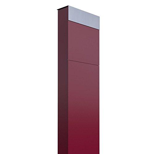 Standbriefkasten, Design Briefkasten The Box Rot/Edelstahl - Bravios