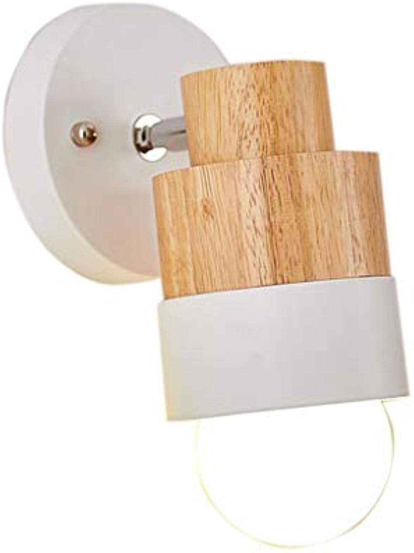 GFF Wand lampSimple kreativer Schlafzimmer-Nachttischlampen-Korridor-Holz Art Background