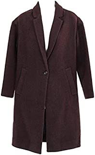 Madewell Women's Monsieur Coat Winter Jacket Rich Plum Burgundy XXS Style G7082