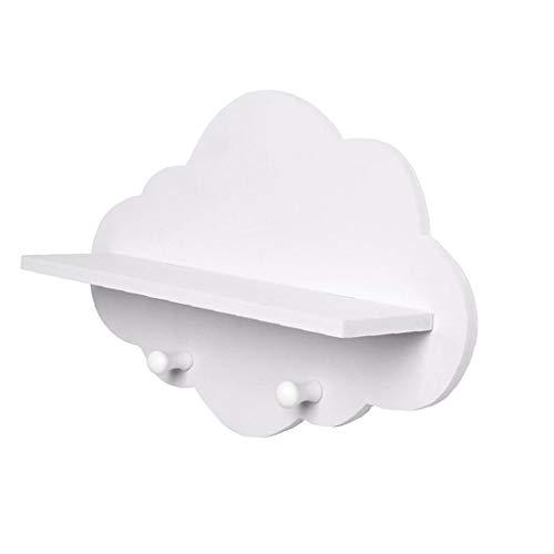 Yililay Estante de la suspensión, estantes Forma de Las Nubes Nube de Madera Flotante Estante estantes Blancos flotantes de Montaje en Pared Escudo Junta exhibe la suspensión de Almacenamiento en