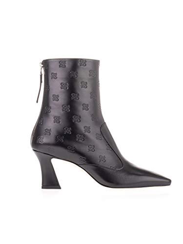 FENDI Luxury Fashion Damen 8T6941A8PMF0ABB Schwarz Leder Stiefeletten | Frühling Sommer 20
