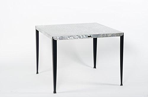 Styl'Métal 21 Table Haute Lilou Luxe Métal Noir 160x100