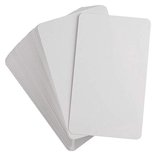 Niumen 2 Kartons 100 Stück Blanko-Spielkarten - Hartes Papier Kartenpapier DIY-Brettspiel Blanko-Spielkarten Wiederverwendbar - Ideal als Karteikarten, Quiz-Karten, Lernkarten
