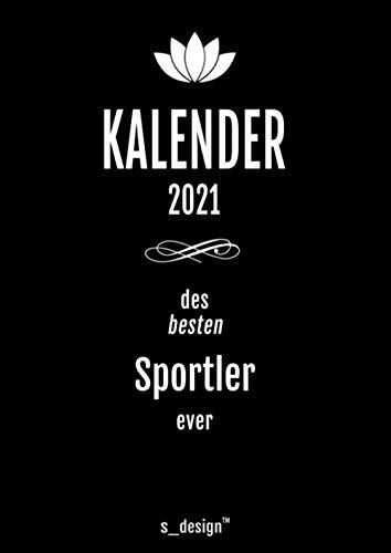 Kalender 2021 für Sportler: DIN A4 Tagesplaner / Wochenplaner / Terminkalender für das ganze Jahr: Termin-Planer / Termin-Buch / Journal für alle Tages-Termine von 7 bis 21 Uhr (4 Termine pro Stunde)