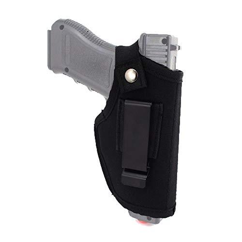Muzboo 800D - Funda de Transporte Oculta de Nailon para Llevar Dentro o Fuera de la Cintura para diestros y Zurdos, se Adapta a Pistolas Grandes y subcompactas