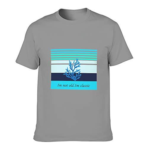 Camiseta de algodón para hombre con texto en alemán 'Ich nicht alt. im Klassiker Cool Divertido de alta calidad - Alphabet Print manga corta Gris oscuro. L