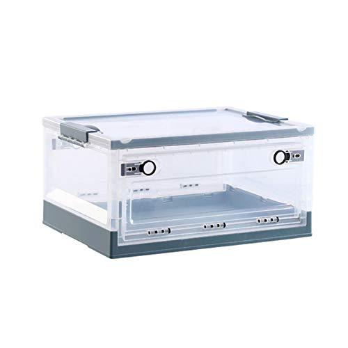 JINTIANSDS Plástico Transparente Caja De Almacenaje,Gran Capacidad Plegable Bolsa De Almacenamiento,Partición Estable...