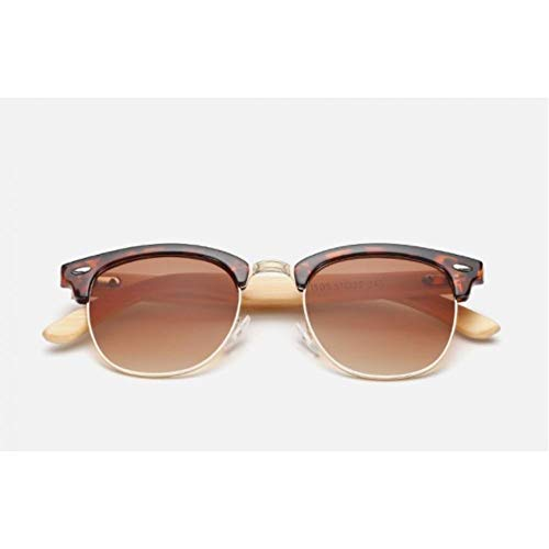 FRGH Gafas De Sol para Hombre Lente De Espejo De Madera De Nogal Polarizada Gafas De Sol Mujer Tonos Coloridos