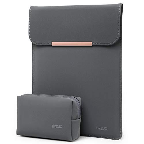 HYZUO 13 Zoll Laptop Hülle Tasche Laptophülle Compatibel mit 2018-2020 M1 MacBook Air 13/2016-2020 M1 MacBook Pro 13/ Dell XPS 13/ Surface Pro X 7 6 5 4/ iPad Pro 12,9 2018 2020, Spacegrau