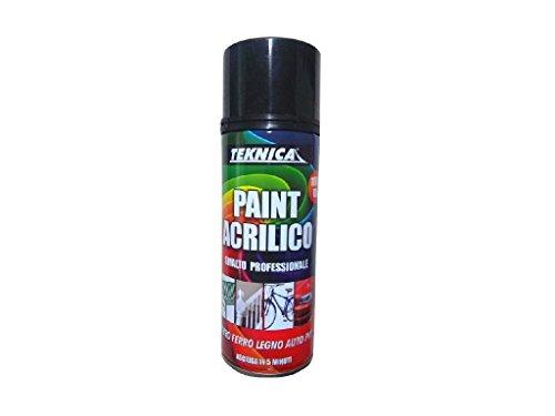 TEKNICA Smalto Acrilico Spray Bianco RAL 9010 Opaco RAPIDO Professionale CARROZZERIA Auto Moto 400ML
