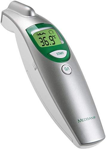Medisana FTN termómetro digital 6 en 1 para bebés, niños y adultos, termómetro clínico con alarma visual de fiebre y función de memoria