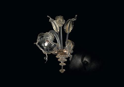 Darwin applique in vetro di Murano - Darwin wall lamp in Murano glass CLASSE ENERGETICA