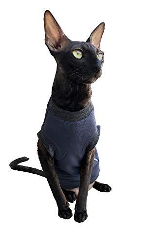 Kotomoda Katzen Kleidung Pullover Dunkelblauer Boss (S)