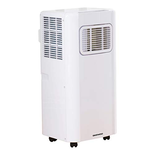Daewoo 5000 BTU Portable 3-in-1 Air Conditioning Unit with LED Display, Remote Control, 24hr Timer, 2 Fan Speed Settings for Home/Small Office [Energy Class A]