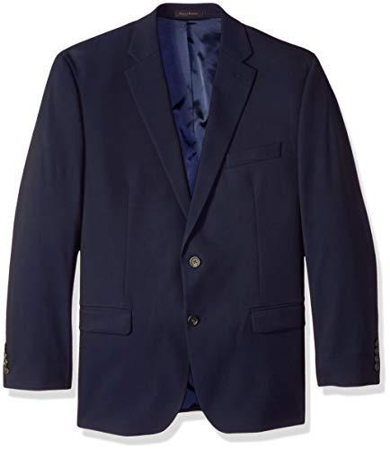 Tommy Hilfiger Men's Modern Fit Stretch Comfort Blazer, Dark Navy Weave, 48 Regular
