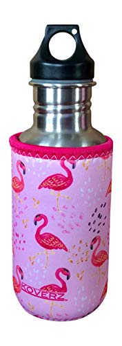 Koverz Neoprene 16-18 oz 500ml Water Bottle Insulator Cooler Coolie - Pink Flamingos