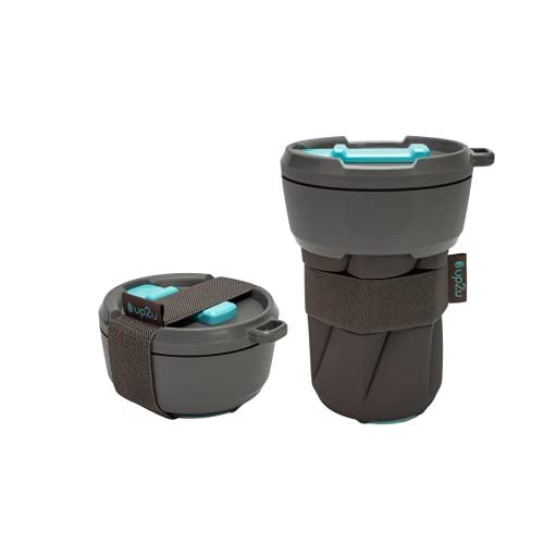 MuC My useful Cup® – Faltbarer Coffee-to-go Becher in versch. Farben Made in Germany   Reisebecher aus Silikon   Mehrwegbecher für unterwegs   recycelbarer Kunststoff & Silikon   Kaffeebecher 350ml