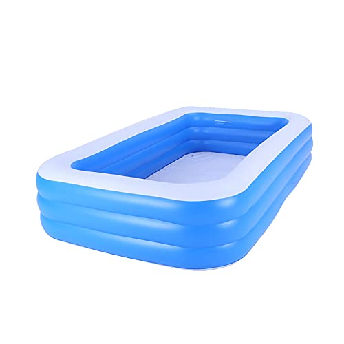 MiQueen Piscina Inflable Piscina Inflable Familiar De Tamaño Completo Adecuada para Niños Y Adultos Piscina Inflable con Patio Trasero Centro De Natación Al Aire Libre (Azul)